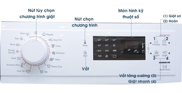 Bảng điều khiển máy giặt bị nóng khi máy đang hoạt động