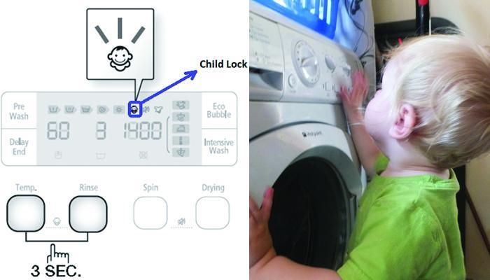 Tính năng an toàn khóa trẻ em