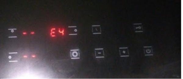 Lỗi E4 bếp từ là lỗi gì