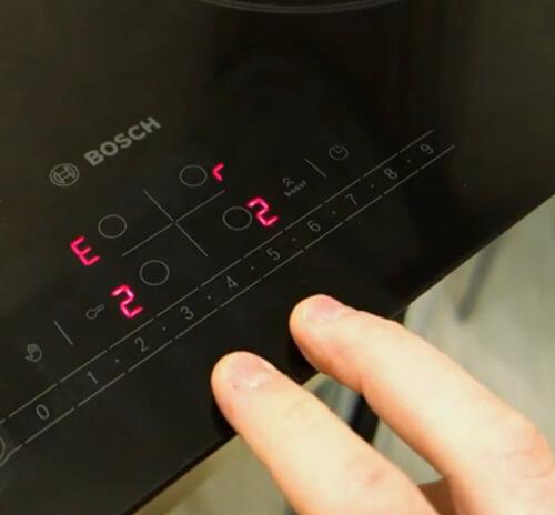 lỗi e2 bếp từ Bosch