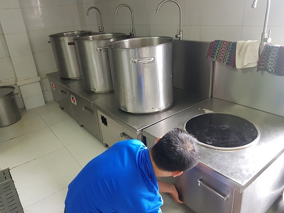 Sửa chữa bếp từ, bếp từ công nghiệp tại KCN Đất Cuốc, Bình Dương.